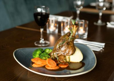 The Hoban Hotel Kilkenny 1801 Bar & Restaurant serving Lamb Shank with mash potato - Copy